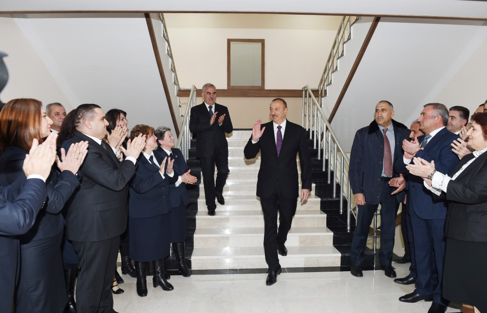 President Ilham Aliyev attended opening of newly renovated building of Nakhchivan city Russian secondary school No3 - VIDEO