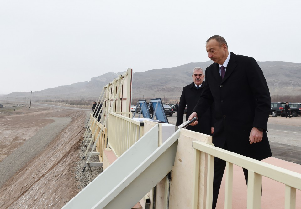 President Ilham Aliyev attended groundbreaking ceremony of Ordubad Hydroelectric Power Plant