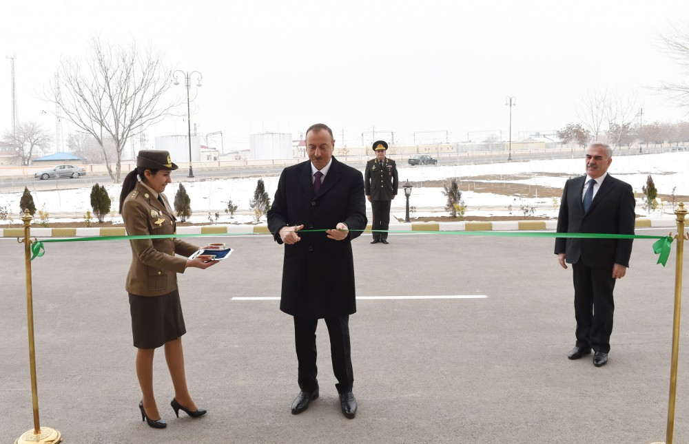 President Ilham Aliyev attended opening of residential building for officers and ensigns of Ministry of Emergency Situations in Nakhchivan
