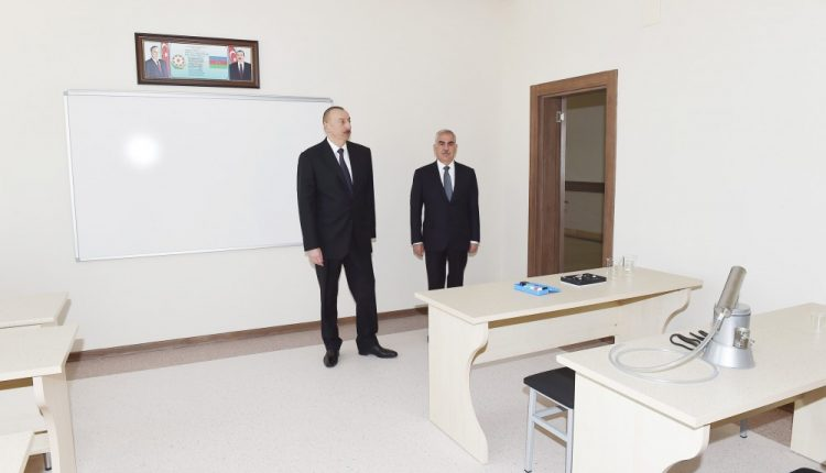 President Ilham Aliyev inaugurated secondary school No 6 in Garakhanbayli administrative district, Nakhchivan
