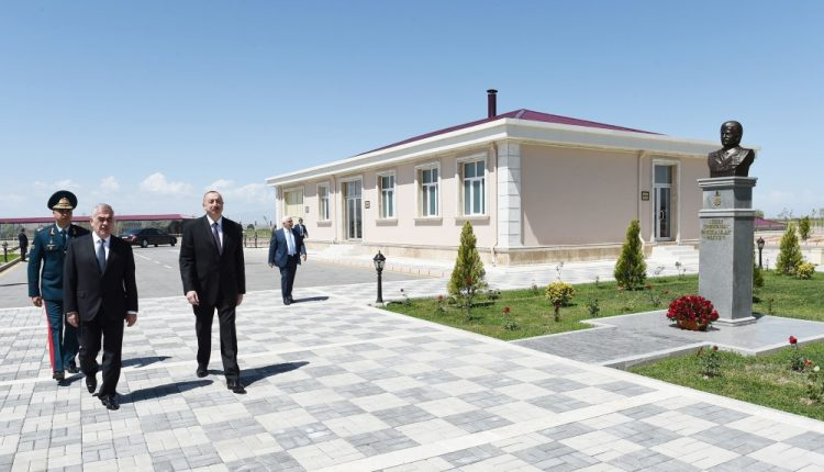 President Ilham Aliyev viewed State Border Service`s border guard in Nakhchivan city Garachug administrative district